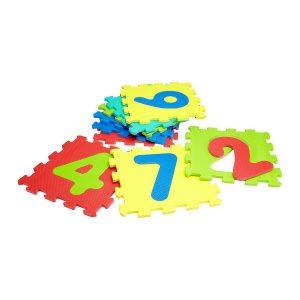 Number Multicolor interlocking mats