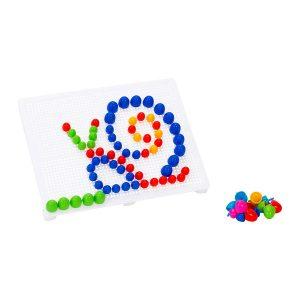 Colored pegs board