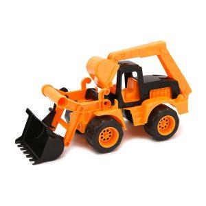 Bulldozer con escavatore