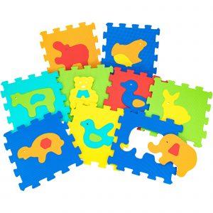 Animals puzzle tiles ( 9 pieces)