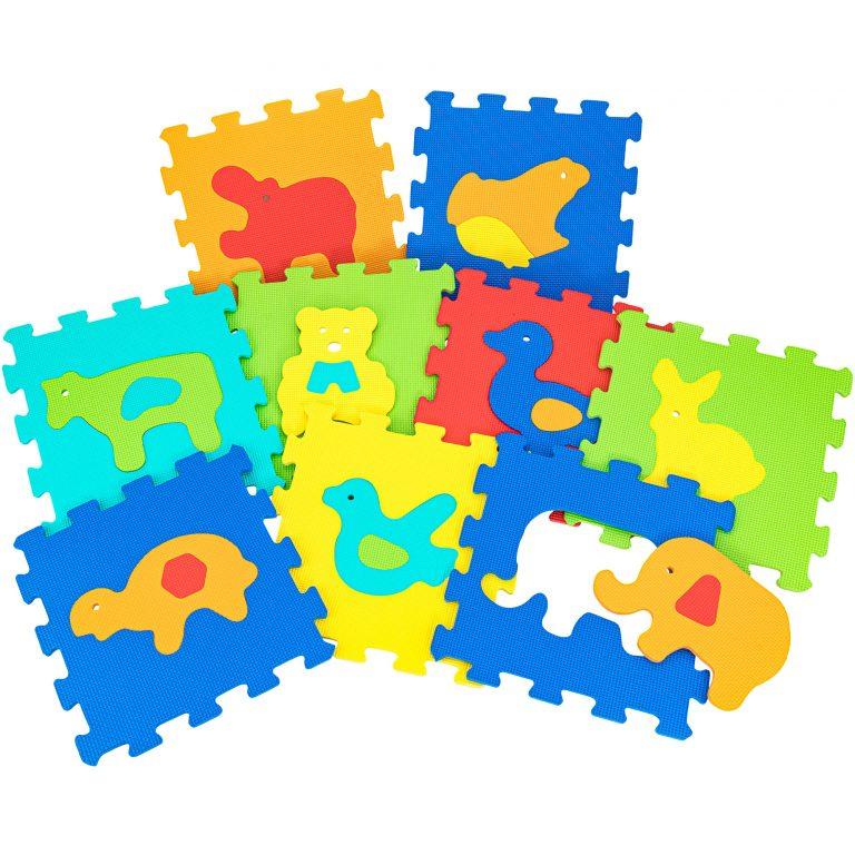Mattonelle puzzle animali 9pz
