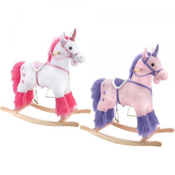 unicorno a dondolo in peluche
