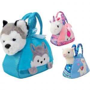 Peluche animali in borsetta